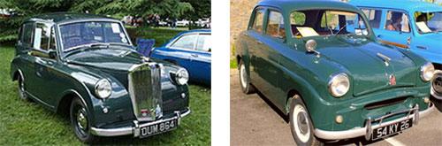 Triumph Mayflower 1950 - Triumph Standard 1954