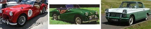 Triumph TR2 1955 - Triumph TR3 1955/1957 - Triumph Herald 948cc Coupé 1960