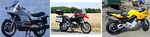 1986 BMW K100 - BMW R1200 GS - BMW F 800 S