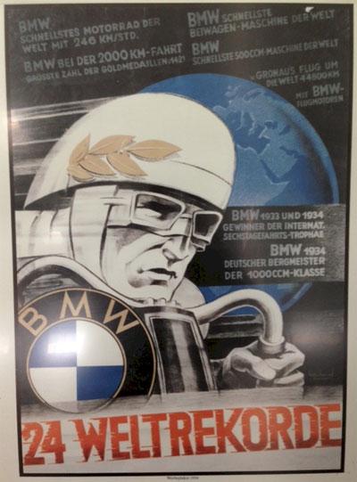 Afiche logros motos BMW 1934