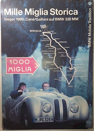 Poster Mille Miglia BMW