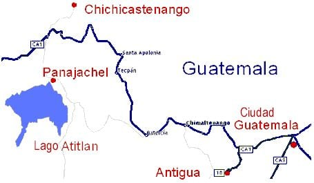 Mapa Lago Atitlan