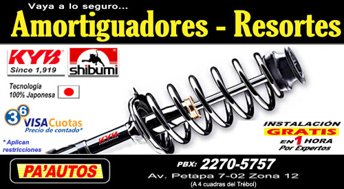 Amortiguadores en Guatemala